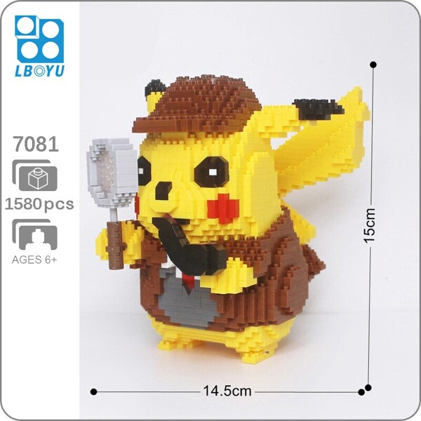 Balody 7081 Large Detective Pikachu