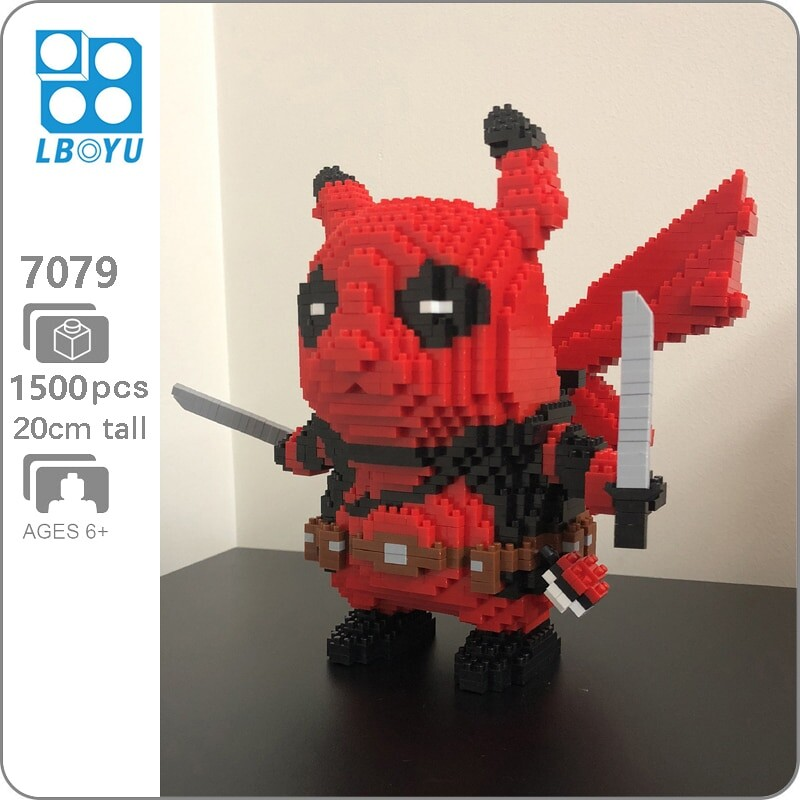 Lboyu 7079 Large Deadpool Pikachu