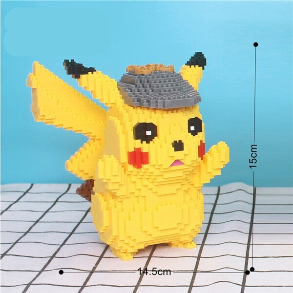 Lboyu 7080 Large Pikachu With Detective Hat