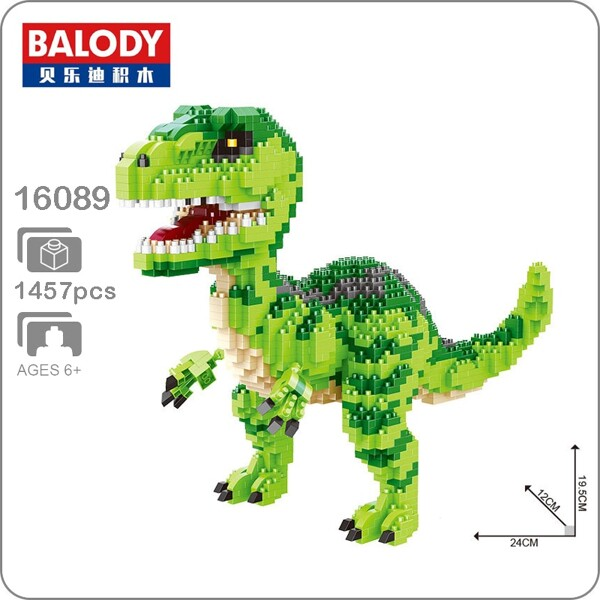 Balody 16089 Giant Green T-rex Dinosaur