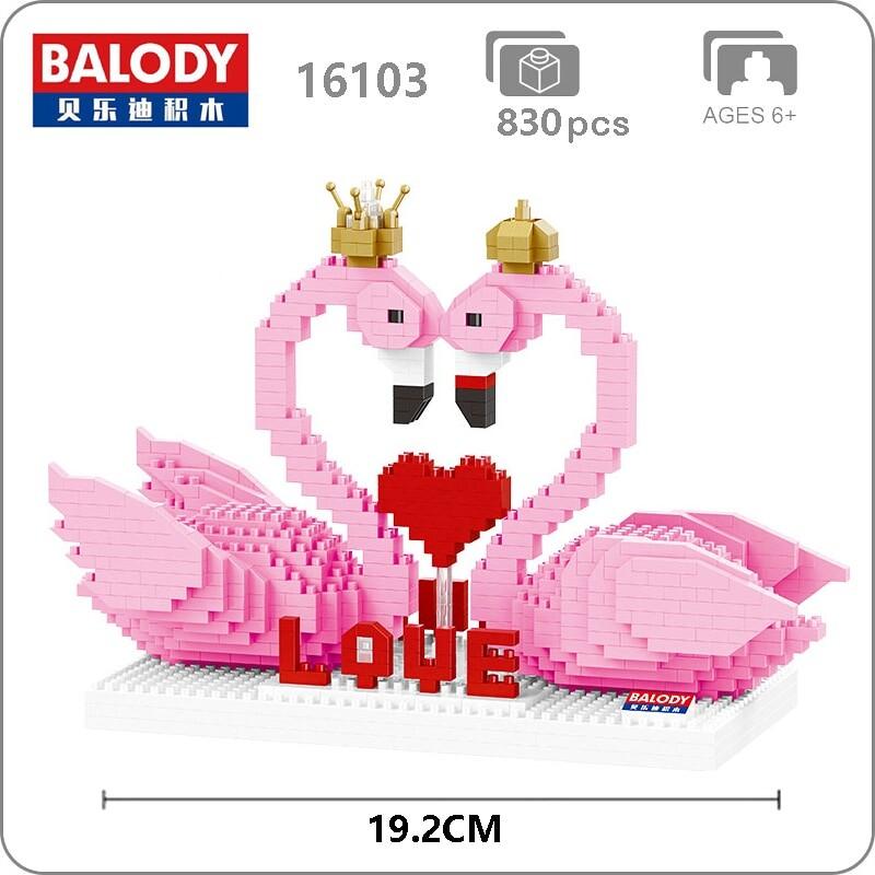 Balody 16103 Large Pink Flamingo Couple