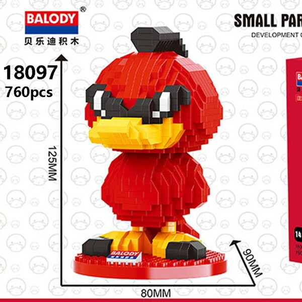 Balody 18097 Large Red Cartoon Duck