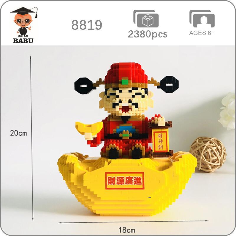 Babu 8819 Red God Of Wealth Gold XL