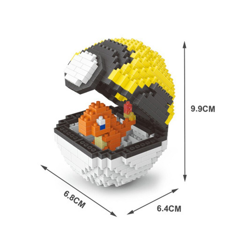 Balody 2535 Medium Pocket Charmander Monster Yellow Ultra Ball