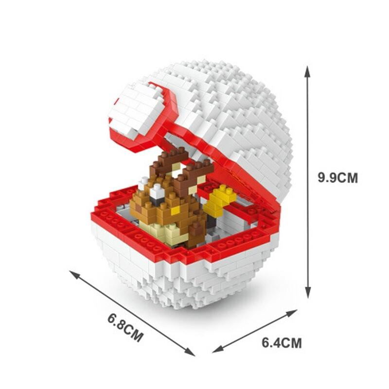 Wise Hawk 2534 Medium Pocket Raichu Monster White Ball