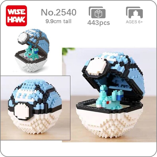 Balody 2540 Medium Pocket Nidoran Monster Blue Net Ball