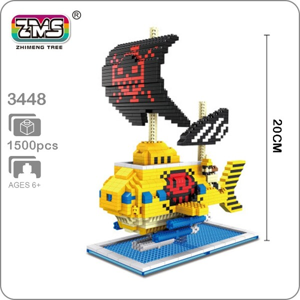 ZMS 3448 Large One Piece Submarine Ship
