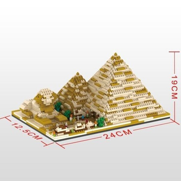YZ 059 Large Golden Egyptian Pyramids