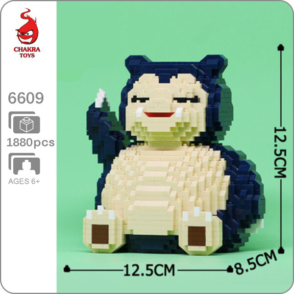 CHAKRA 6609 Medium Pokémon Snorlax Bear