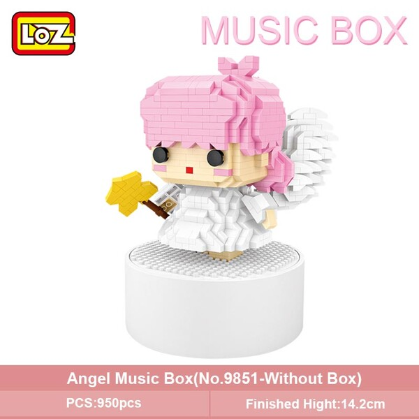 LOZ 9854 Sun Flower Music Box Mini Bricks