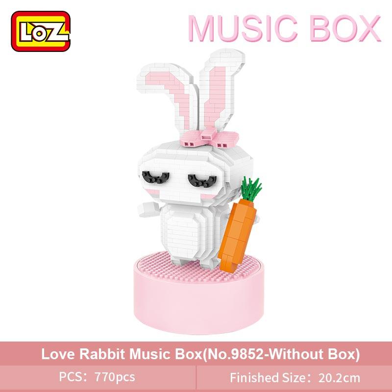 LOZ 9854 Sun Flower Music Box Mini Bricks