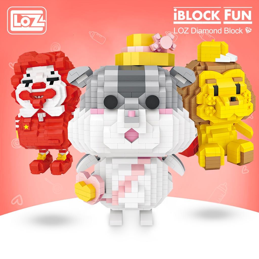 LOZ 9206-9236 Cute Cartoon Series Bundle Mini Brickheadz