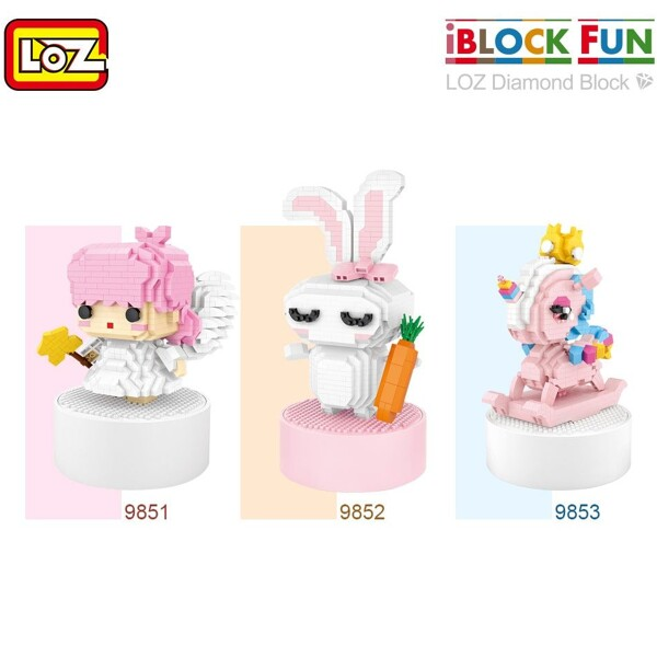 LOZ 9851 Angel Music Box Mini Bricks