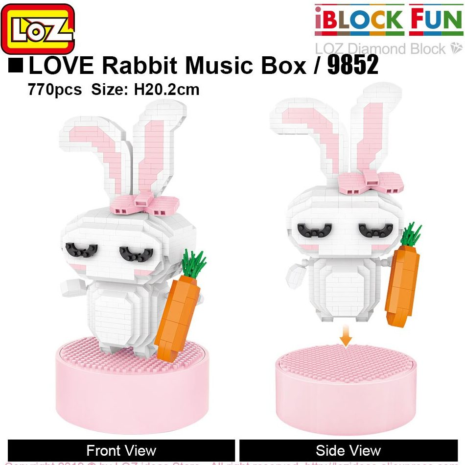 LOZ 9852 Love Rabbit Music Box
