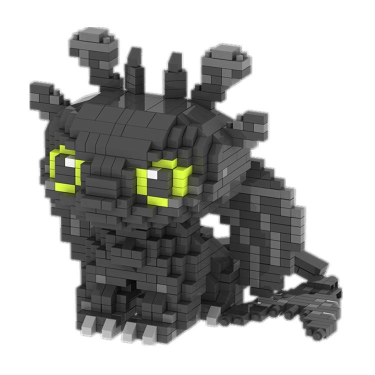 ZRK 7819 7820 Toothless And Light Fury Character Cartoon Mini Bricks