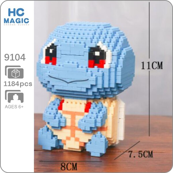 HC 9104 Squirtle Pocket Monster Sit Mini Bricks