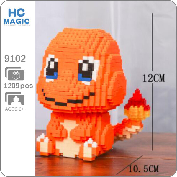 HC 9102 Charmander Pocket Monster Sit Mini Bricks