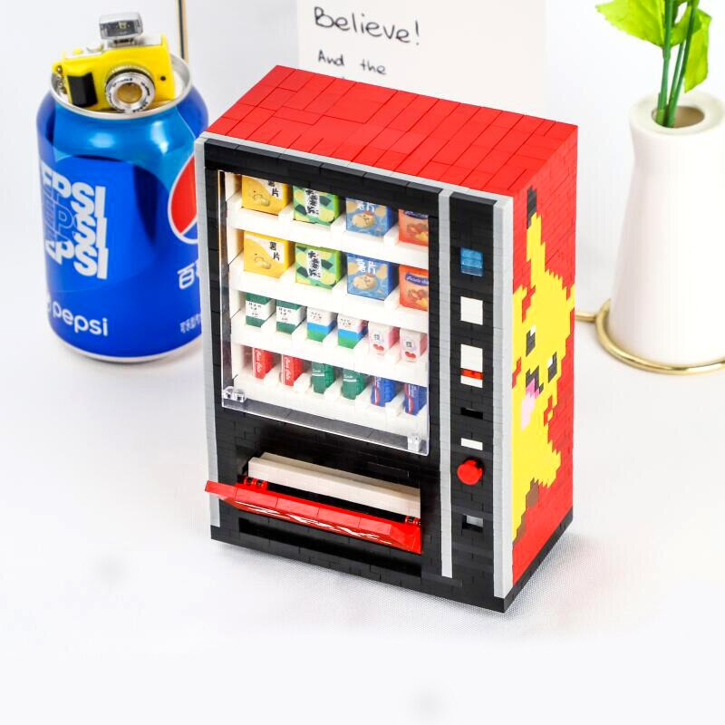 ZRK 7823 Pikachu Drinks Vending Machine Mini Bricks