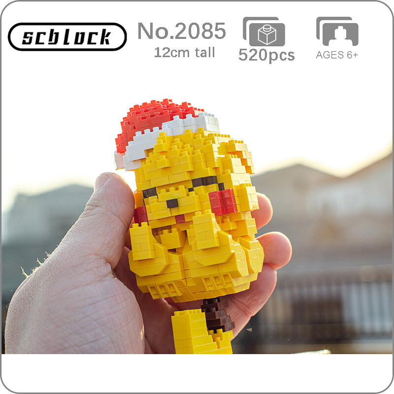 SC 2085 Christmas Pikachu Sleep Mini Bricks