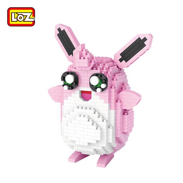 LOZ 9225 Pink Wigglytuff Pocket Monster Mini Bricks
