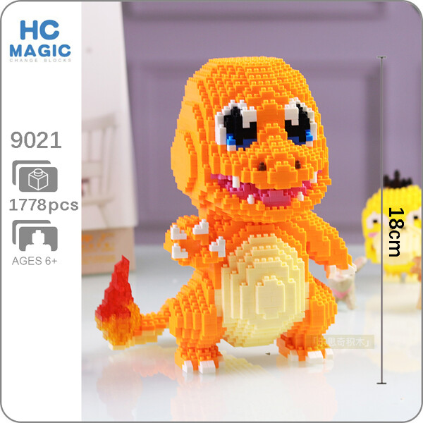 HC 9021 Charmander Pocket Monster Mini Bricks