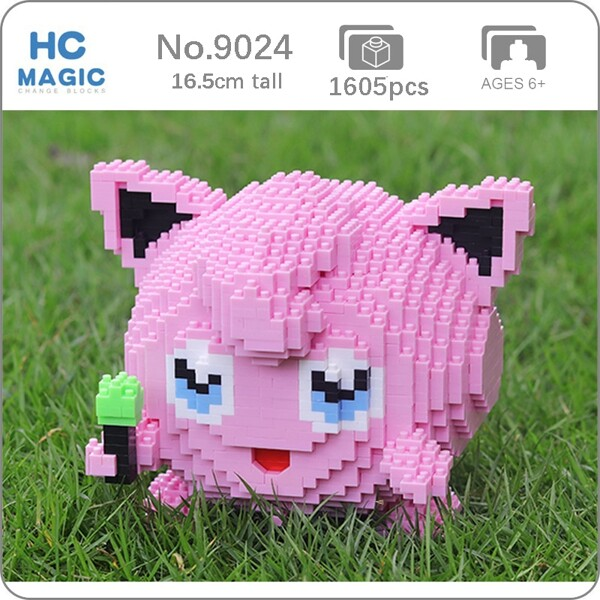 HC 9024 Jigglypuff Pink Pocket Monster Mini Bricks