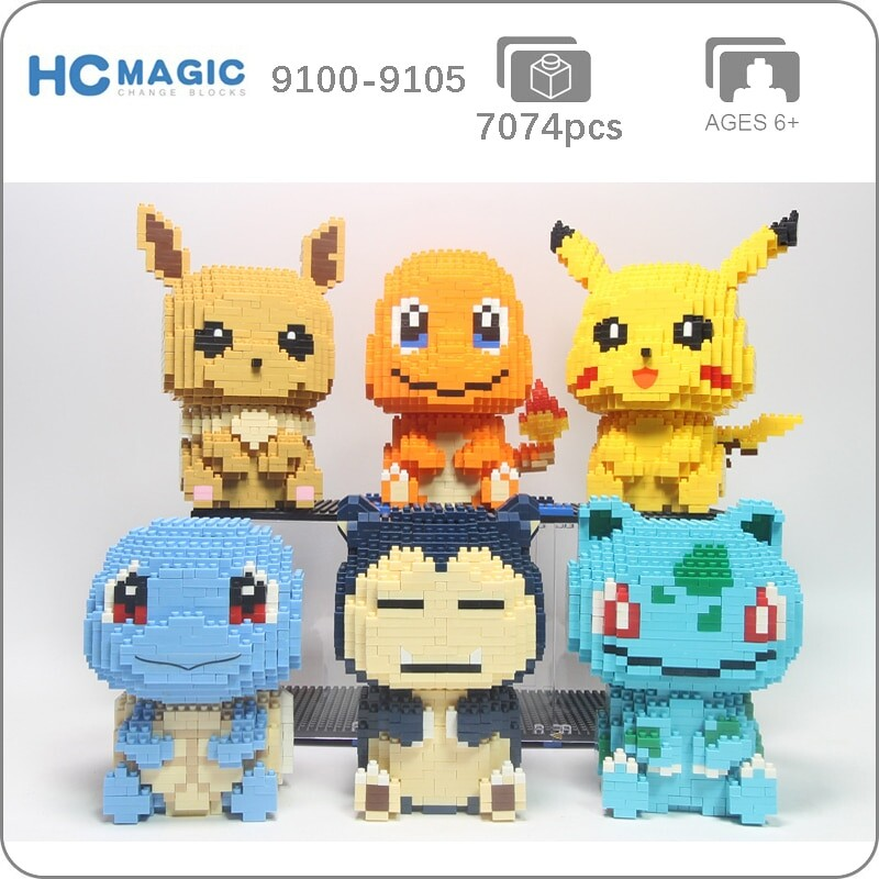 HC 9100 9101 9102 9103 9104 9105 Pocket Monster Sit Set Bundle Mini Bricks
