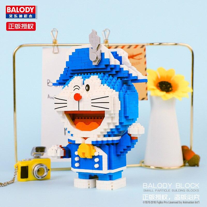 BALODY 16135 Doraemonl Soldier Winter Mini Bricks