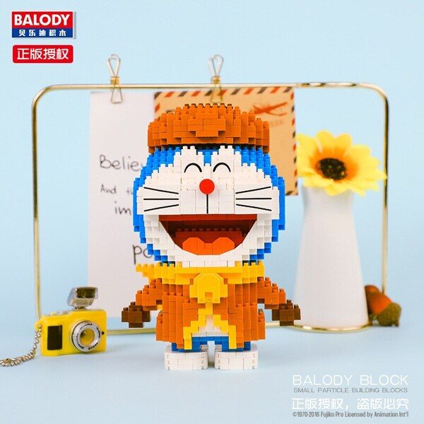 BALODY 16134 Doraemon Soldier Winter Mini Bricks