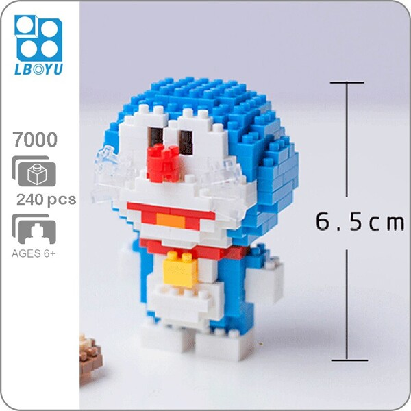 BOYU 7000 Doraemon In Series Stand By Me Doraemon Mini Bricks