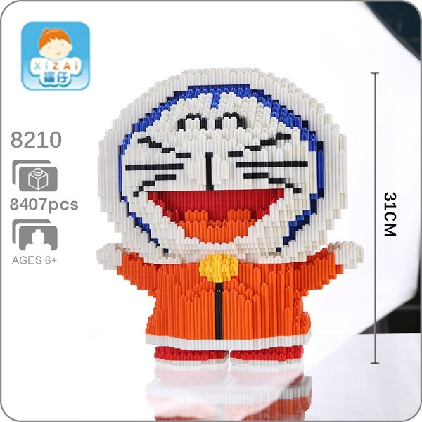 XIZAI 8210 Doraemon Winter Snow Mini Bricks