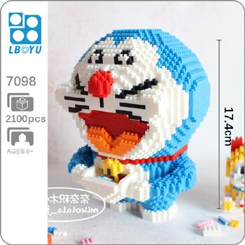 BOYU 7098 Doraemon Open Pocket Mini Bricks