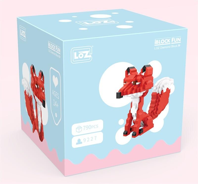 LOZ 9227 Red Fox Cartoon Character Mini Bricks