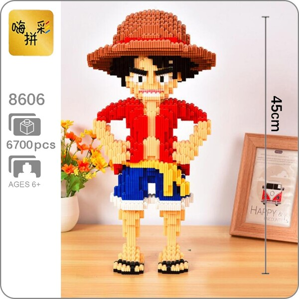 XIZAI 8606 Monkey D Luffy One Piece Brickheadz