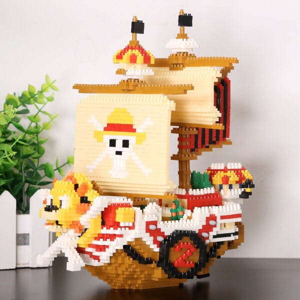 HC 9035 Luffy Sunny Pirate Ship Boat One Piece Brickheadz