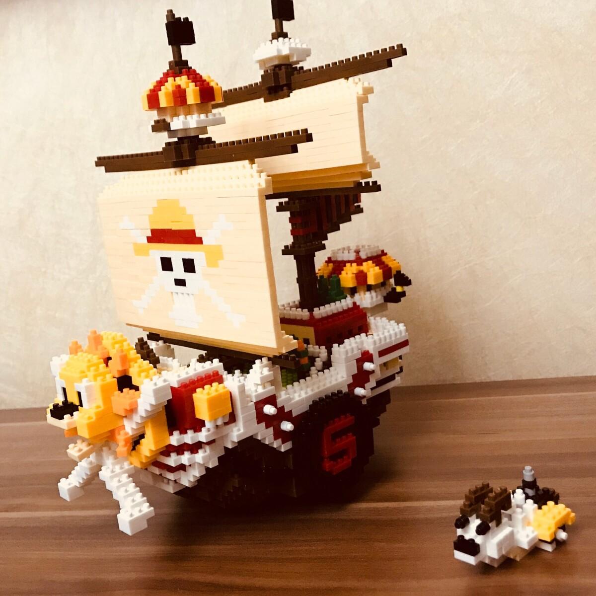 HC 9035 Luffy Sunny Pirate Ship Boat One Piece Brickheadz