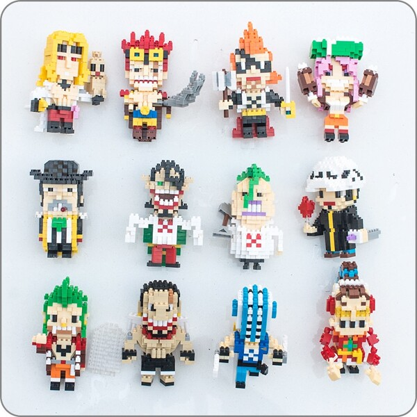 BALODY 053 One Piece Character Bundle Brickheadz