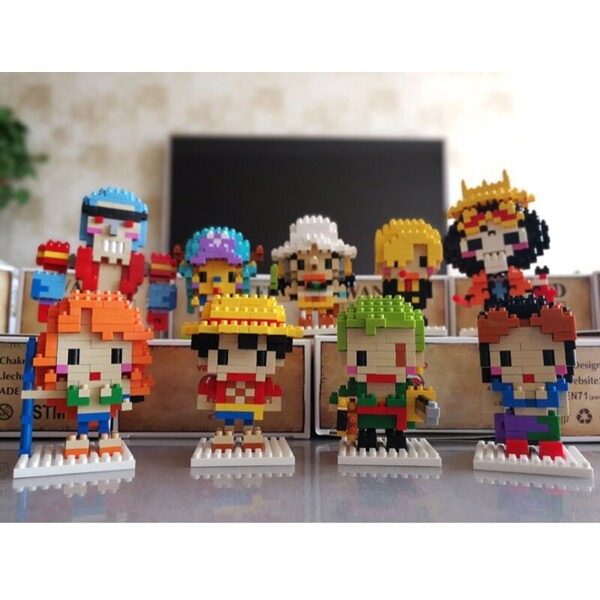 CHARKA 9930-9947 One Piece Pirate Warriors Bundle Brickheadz