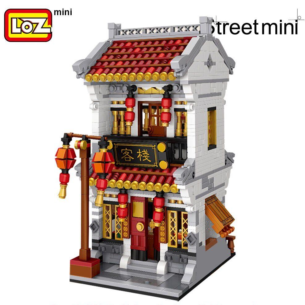 LOZ 1023 1024 1025 China Traditional Street Set Bundle Brickheadz