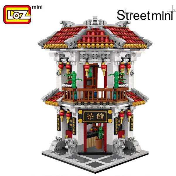 LOZ 1023 1024 1025 China Traditional Street Set Bundle Brickheadz