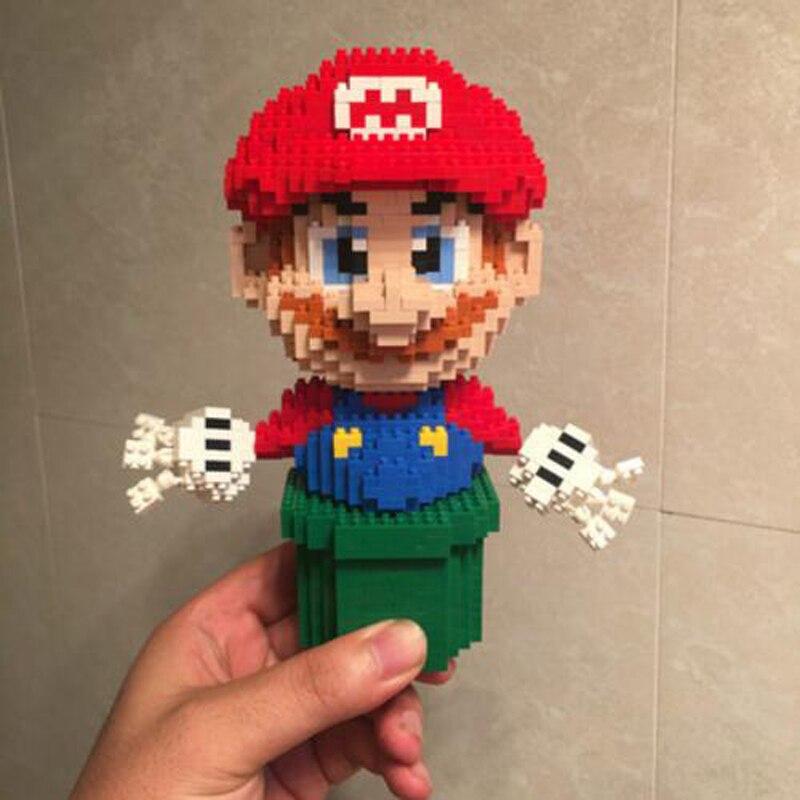 CHARKA 7005 7006 Super Mario Greenpipe And Golden Question Block Mario Bundle Brickheadz