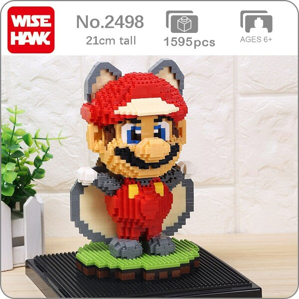 WISEHAWK 2498 Super Mario Flying Squirrel Raccoon Mario Brickheadz