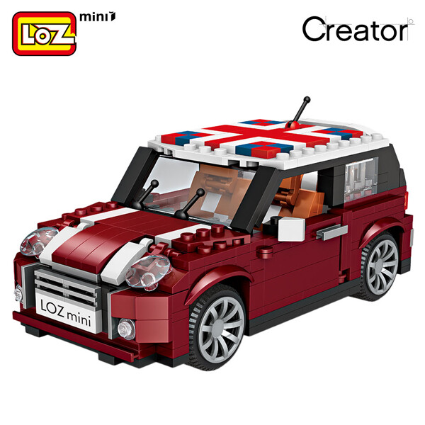 LOZ 1111 Mini Cooper Car Brickheadz