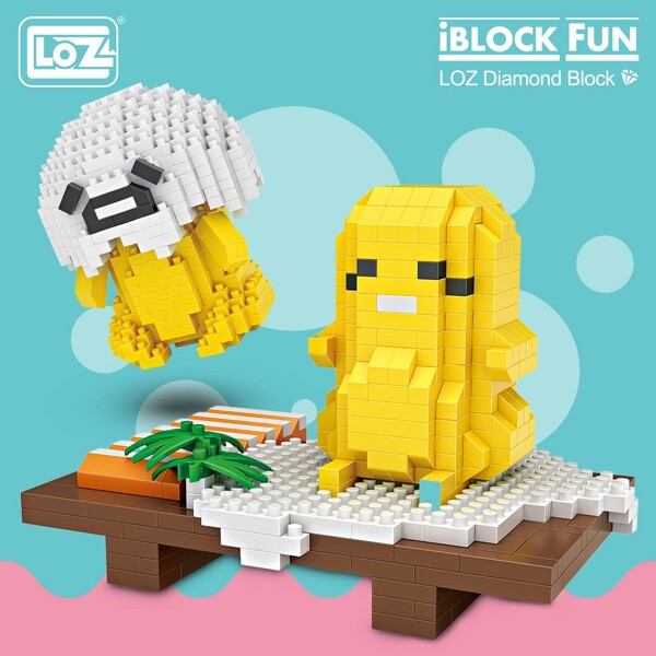 LOZ 9768 9769 Sushi Egg Food Set Brickheadz