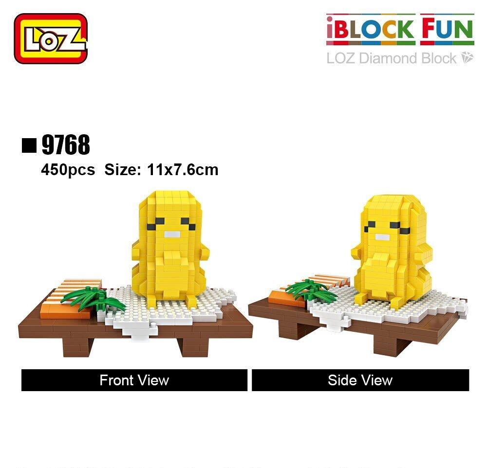 LOZ 9768 9769 Sushi Egg Food Set Brickheadz