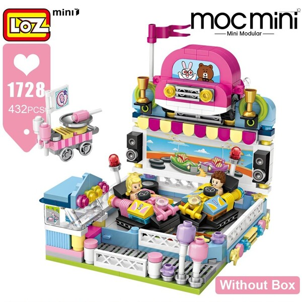 LOZ 1728 Bumper Car Brickheadz