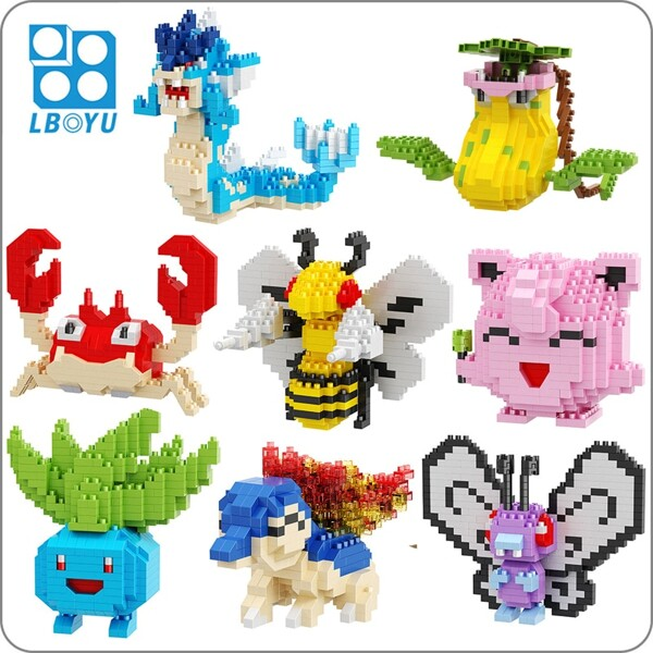 LBOYU 7064-7119 Pocket Monster Bundle Brickheadz