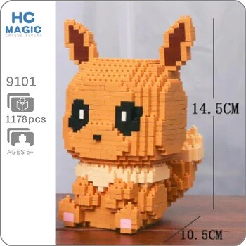 HC 9101 Eevee Pocket Monster Sit Mini Bricks