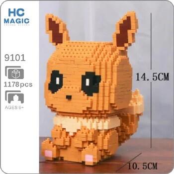 HC 9101 Eevee Pocket Monster Sit Mini Bricks
