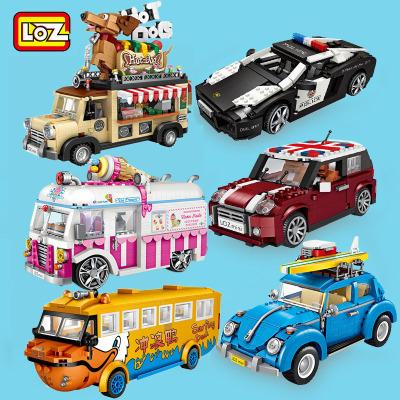 LOZ 1111 1115 1116 Technic Car Model Set Bundle Brickheadz